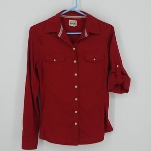 Converse One Star Red Long Sleeve Top